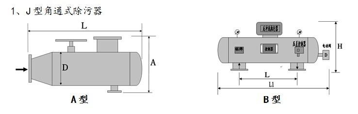 角通式除污器规格尺寸,除污器技术参数